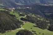Idyllic Bavarian Landscape, Village And Zugspitze — Stock Photo