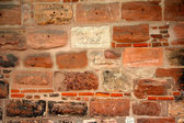 Old wall with bricks — Stock Photo