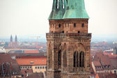 Scenery of church in nuremberg — Stock Photo
