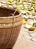 Basket for orange skin — Stock Photo