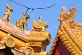 Beijing Forbidden City Architecture detail pattern design — Stock Photo
