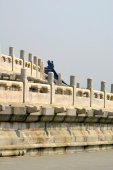 Wall detail temple of heaven beijing china — Stock Photo