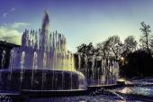 Milan italy castello sforzesco fountain — Stock Photo