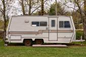 Vintage camping trailer — Stock Photo
