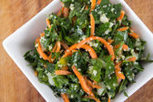 Tabbouleh parsley and carrot salad bowl — Stock Photo