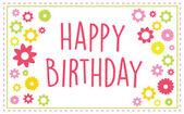 Gelukkige verjaardag wenskaarten — Stockvector