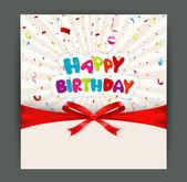 Birthday card design — Stock Vector