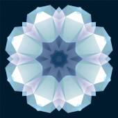 Christmas flower crystal ornament — Stock Vector