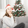 Young girl think about christmas — Stock Photo #55711211