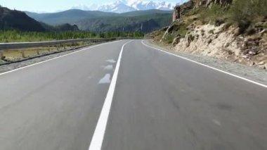 Flying Over the Asphalt Road — Stock Video