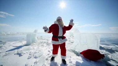 Dancing Santa Claus — Stock Video