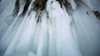 Ice cave — Stock Video