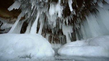 氷の洞窟 — ストックビデオ
