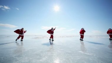 Santa on Lake Baikal — ストックビデオ