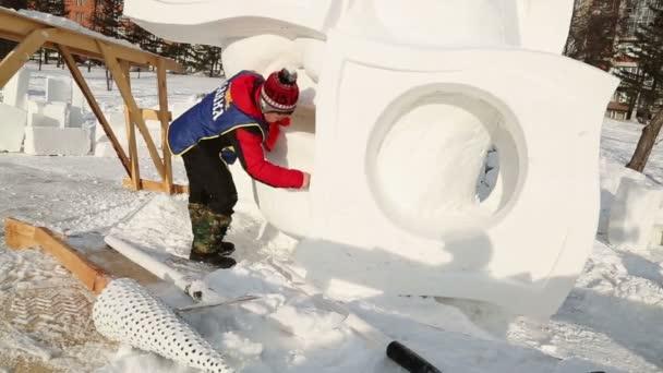 Magia hielo de Siberia — Vídeo de stock