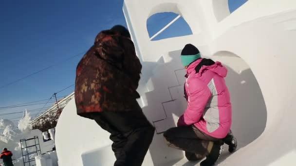 Magic ice of Siberia — Vídeo de stock