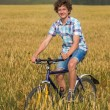 Boy with bicycle — Stock Photo #58293677