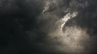Dark grey sky — Stock Video