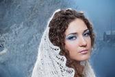 美丽的冬天女人 — 图库照片