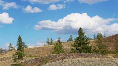 Mountain landscape clouds — Stock Video