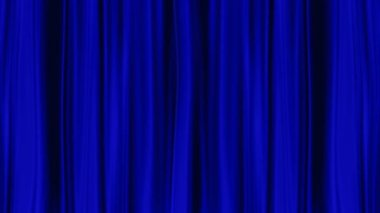 Blue Curtains open, isolated black backgraund — Stock Video