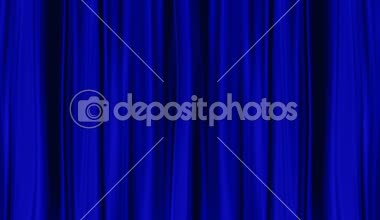 Blue Curtains open, isolated on White backgraund — Stock Video
