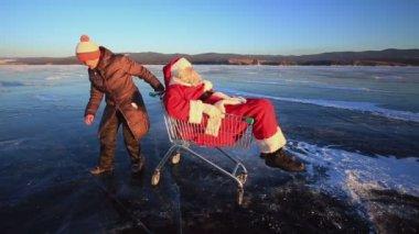 Santa Rides — Stock Video