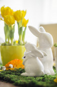 Decorated easter table — Foto de Stock