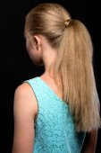 Blonde woman with hair tail back — Stock Photo