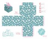 Printable Gift Box Various Shells — Διανυσματικό Αρχείο