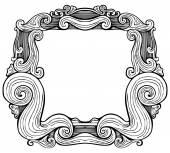 Antique Frame Engraving — Stock Vector