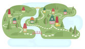 Map With Fairyland — Stock Vector
