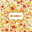 Background With Autumn Leaves Pattern And Banner — Stock Vector #56003291