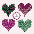 Set Of Floral Hearts — Stock Vector #57756429