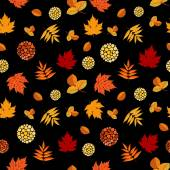 Bright Autumn Leaves Seamless Pattern — Stockvektor