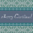 Christmas Knit Greeting Card — Stock Vector #58300503