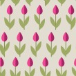 Tulips Seamless Background — Stock Vector #59297817