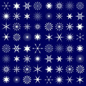 Contrast Seamless Pattern With Snowflakes — Vecteur