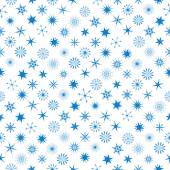 Different Snowflakes At Seamless Pattern — Vecteur
