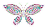 Abstract Bright Butterfly — Stock Vector