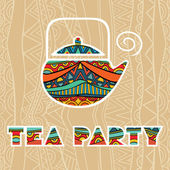 Tea Party Poster — Stock Vector