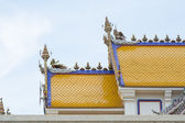 Yellow Tiles Roof of Temple — Stock Photo