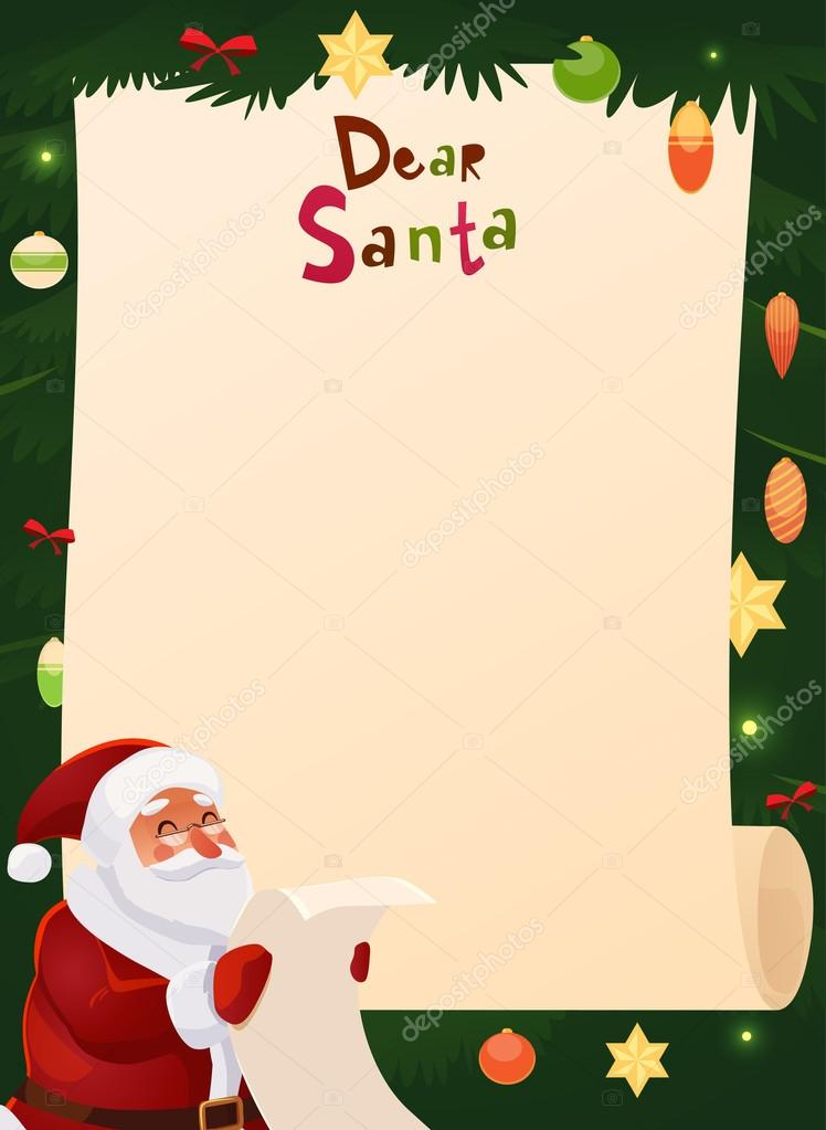 weihnachts wunschzettel entwurf blank stockvektor 58823815. Black Bedroom Furniture Sets. Home Design Ideas