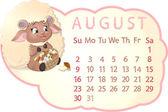 Beautiful calendar — Vector de stock
