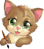 Little kitten — Stock Vector