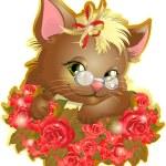 Beautiful kitten — Stock Vector #60545623