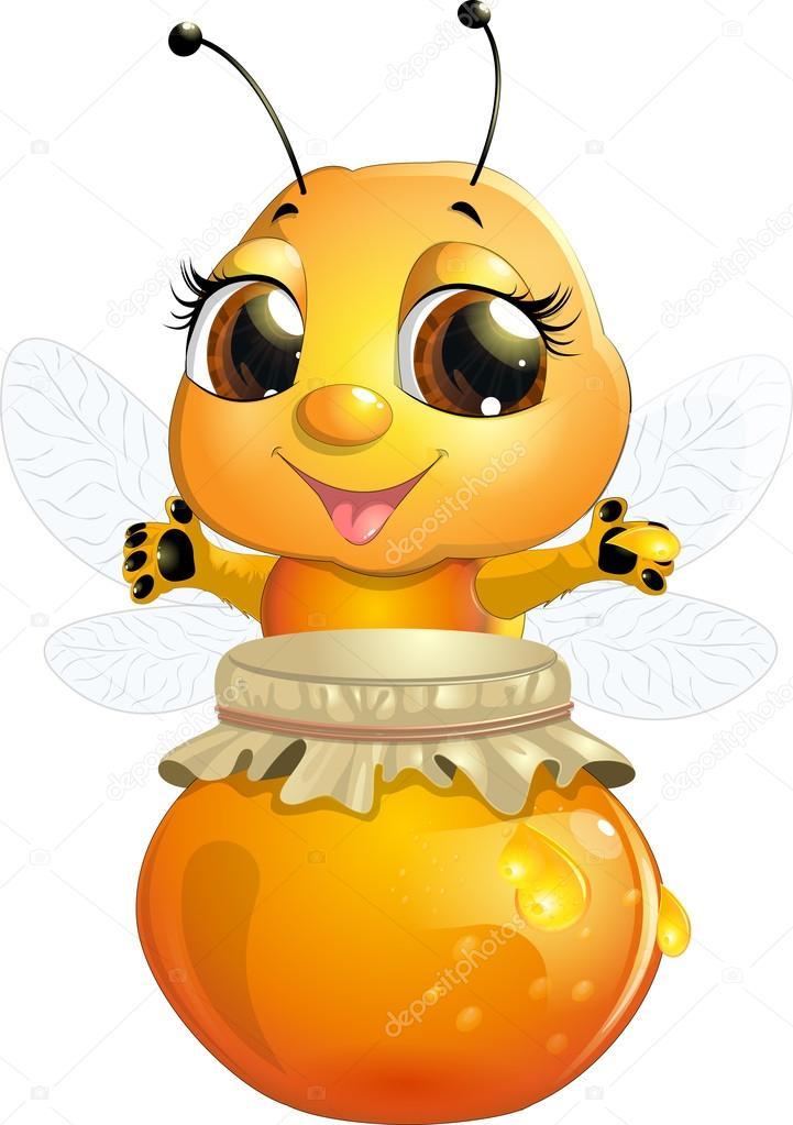 пчелки с медом картинки для детей