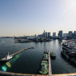 Tokyo view from the Rainbow Bridge, Japan — Stock Photo #52978273