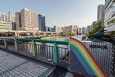 Small bridge with rainbow In Tokyo, Japan — Stock Photo