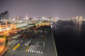 Warehouse at the riverside in Tokyo, Japan — Stock Photo